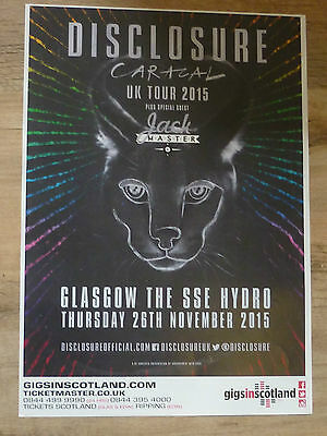 Disclosure gig poster Glasgow 2015 concert tour