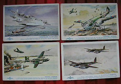 4 Vintage Salmon Postcards Ww2 Aircraft Unposted Very Good