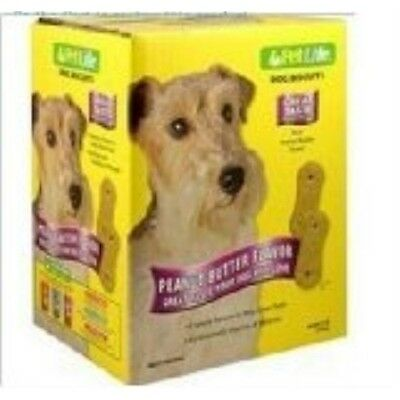 SUNSHINE MILLS 417511 Pet Life Large Peanut Butter Biscuits for Dogs, 4-Pound