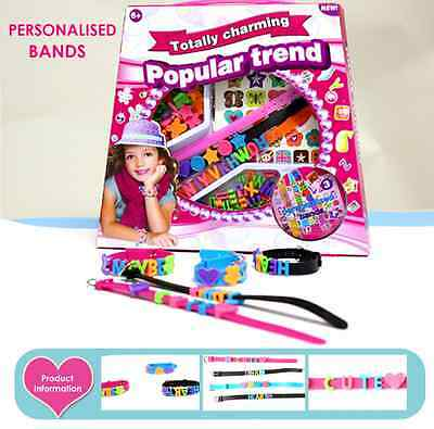 Girls DIY Craft Kit - Personalised Bands -Charming Popular Trend Educational Toy