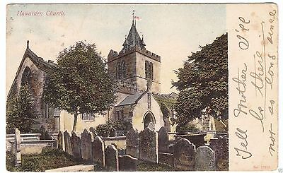HAWARDEN CHURCH - posted from Ruabon -   North Wales - 1907 used postcard