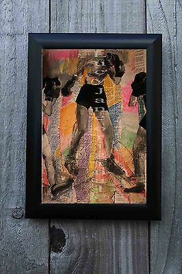 """, """"Groovy Boxers """" hand made original - welsh artists, hand painted, 1 off, ART"""