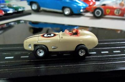 Aurora MODEL MOTORING T-JET Vintage HO #1359 INDY RACER TAN #3 W/CHASSIS TYCO