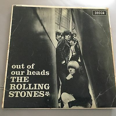 Out Of Our Heads The Rolling Stones Rare 12in Vinyl Mono Lp Decca