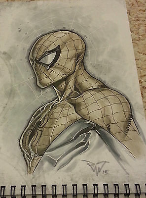 *Original* Spider-Man Art, Paolo Pantalena, Signed 'Beyond Deadlines' Sketchbook