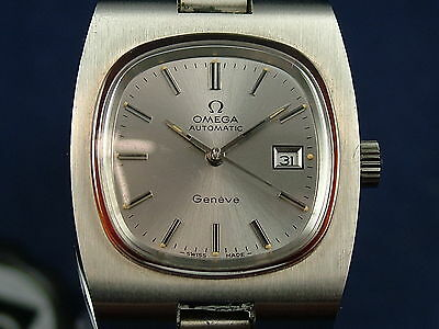 Vintage Retro Ladies Omega Geneve Automatic Watch 1970s NOS Never Worn