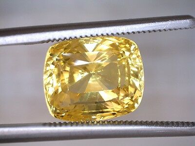 Yellow Sapphire-Unheated- 7.17 ct GRS certified