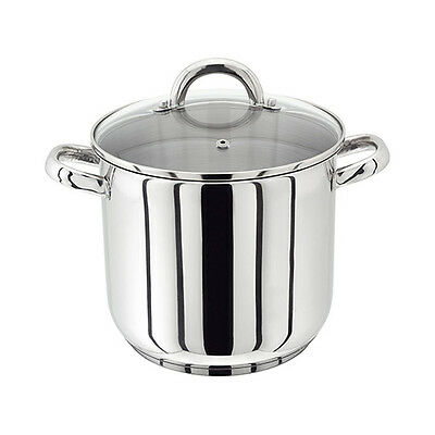 Judge Stainless Steel Stockpot with Vented Glass Lid 20cm,22cm,24cm,26cm,28cm