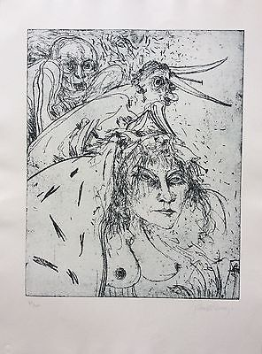 John Bellany Scottish Artist Signed Limited Edition Etching New Condition