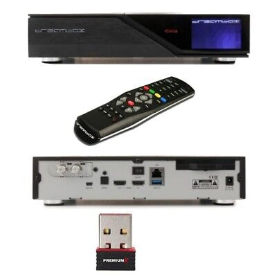 Dreambox DM 900 UltraHD 4K E2 Linux Sat Receiver Twin Tuner DVB-S2 + WLAN Stick