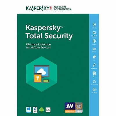 Kaspersky Total Security 2018 1PC/Gerät 1Jahr Vollversion Lizenz Key Download