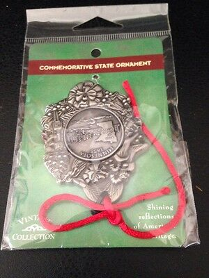 Vintage Collection By Dutch American Commemorative Minnesota Pewter Ornament-MIP