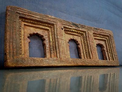Antique/vintage Indian Teak. Maghreb Pierced Panel. Mughal Arch. Picture Frame?