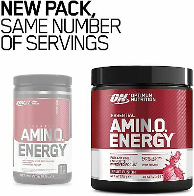 Optimum Nutrition Amino Energy 270g - 30 Servings - All Flavours BCAAs ON BCAA