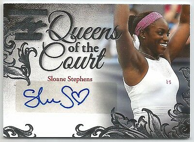 2015 Leaf Ultimate Sloane Stephens @ 14/25 @ Auto Rookie Rc Queens Of The Court