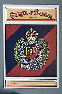 R&L Postcard: Royal Engineers Army Crest/Badge, Soldiers Print Society