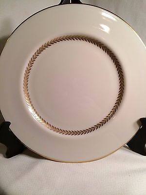 """Lenox China Imperial Pattern 10.5"""" Cream & Gold Dinner Plate"""