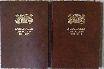 DANSCO AUSTRALIA $1 DE-LUXE PUSH IN COIN ALBUMS 1984 to 2012 - 2 Volume Albums