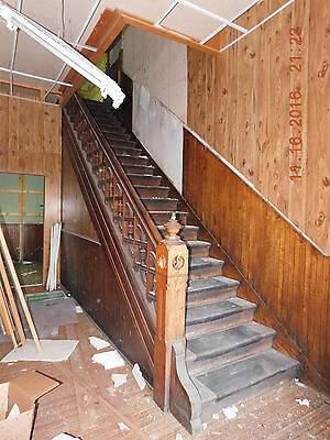 Antique Victorian Complete Staircase - C. 1885 Oak Architectural Salvage