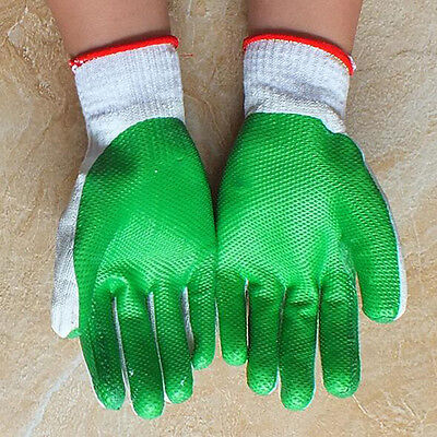 12 Pairs Work Gloves Rubber Coated Builders Mechanic Grip Smelting Welding