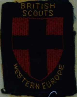 Pre 1967 British Scouts Western Europe badges
