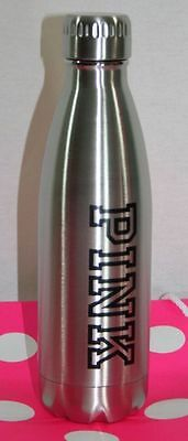 NEW Victoria Secret PINK Friday Metal water bottle silver - Limited Edition