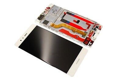 Original Huawei Ascend P9 LCD Touchscreen Display Front Glas Scheibe Rahmen whit