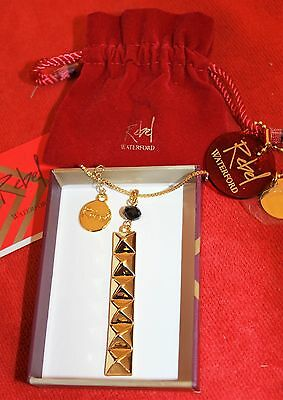 "Waterford Rebel Jewellery ~ Ella B ~ Gold Pendant With 26"" Necklace ~ Boxed"