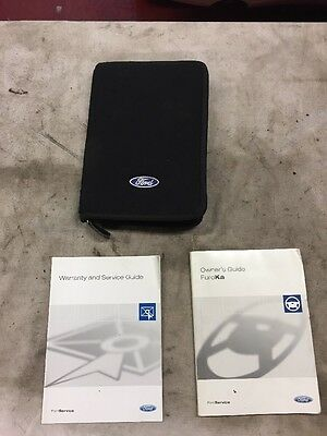 Ford KA Owners manual Book Service Guide And  Wallet Duratec Engine 2001-2007