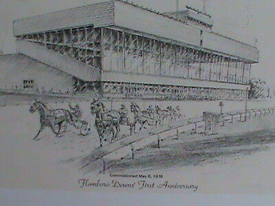Flamboro Downs Raceway Print- First Anniversary May 6th 1976