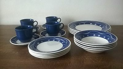 STAFFORDSHIRE One Each Of - Tea Cup, Saucer, Tea & Dinner Plates & Bowl - Set