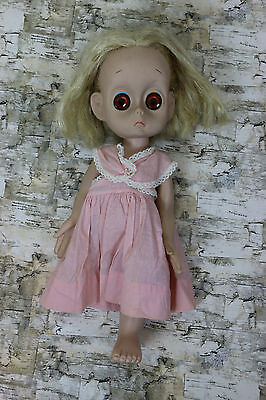 Vintage 1965 Little Miss No Name doll by Hasbro Missing Leg Tear