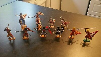 Timpo Knights & Crusaders (2 on Horseback) (Complete figures )