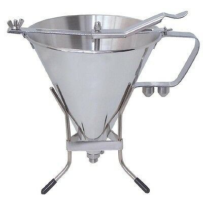 De Buyer Stainless Steel Automatic Piston Funnel 1.5ltr Commercial Kitchen