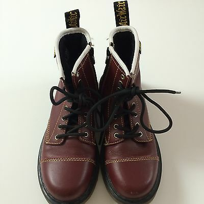 Children's Cherry Red Dr Martens Boots Size 1