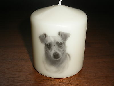 Candle Jack Russell Terrier Dog Can Be Personalised Gift Birthday Memorial New
