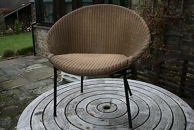 lloyd loom lusty chair bucket woven 60's