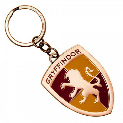 Harry Potter House of Gryffindor Crest Logo Colored Metal Keychain NEW UNUSED