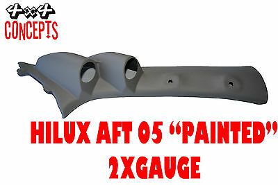 """to suit Toyota Hilux aft 05 DOUBLE PILLAR POD """"NEW"""" NOT PAINTED  Black"""