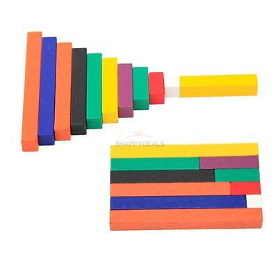 New Wooden Counting Sticks Educational Child Math Learning Numbers Colorful Toy