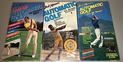 [VHS LOT]Bob Mann's Automatic Golf -Let's Get Started,Specialty Shots,The Method
