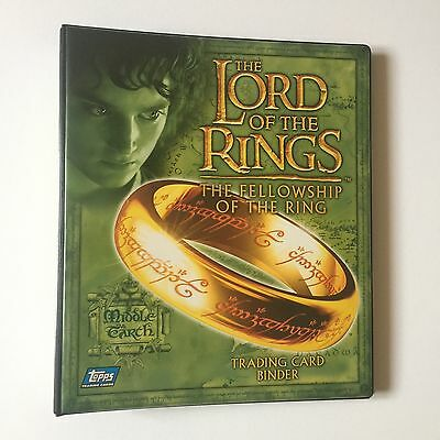 Topps LOTR Lord Of The Rings Fellowship Of The Ring Trading Card Binder & 1-162