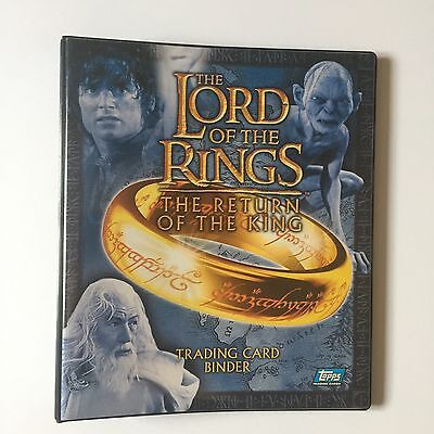 Topps LOTR Lord Of The Rings Return Of The King Trading Card Binder +90 card set