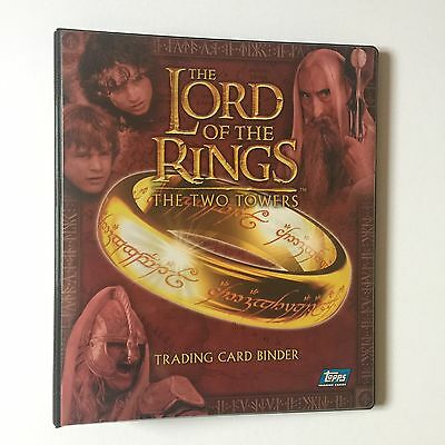 Topps LOTR Lord Of The Rings The Two Towers Trading Card Binder & 90 card set