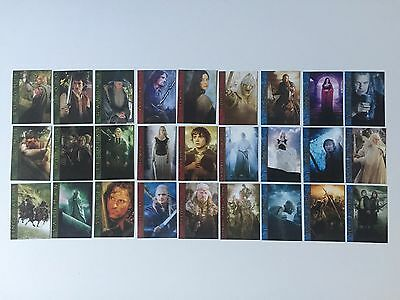 ALL 27 x Lord Of The Rings LOTR Mexican Cinema Character Cards FOTR, TTT & ROTK