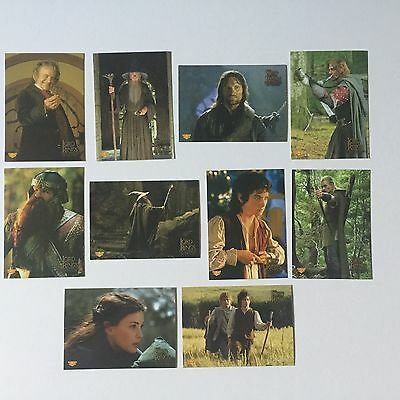 Topps Lord Of The Rings LOTR FOTR Fellowship 10 Sticker Puzzle Chase Cards