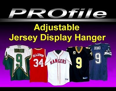 Adjustable Sports Jersey display Hanger for Wall or Display Case