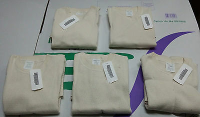 LOT OF 5 EACH - Undershirt, extreme cold weather, cotton natural, USGI