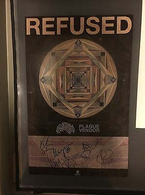 Refused Signed Concert Poster And Pin