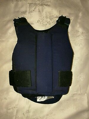 Childrens navy body protector horse riding